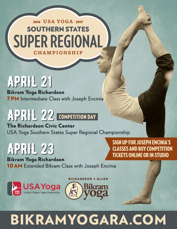 DFW, TX | April 22, 2017 | USA Yoga Southern States Super Regional Championship