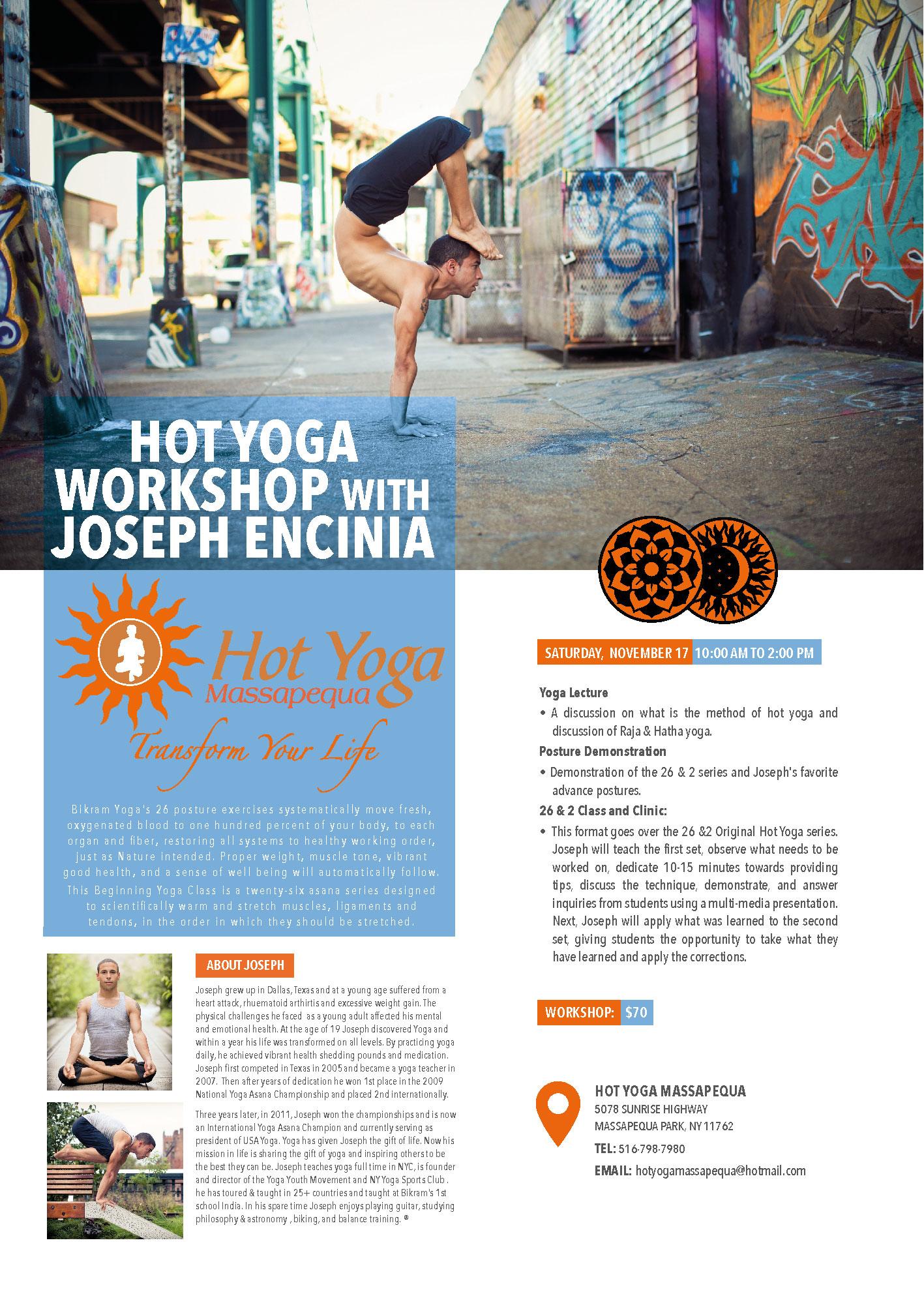 Long Island, NY | November 17, 2018 | Yoga Posture Clinic