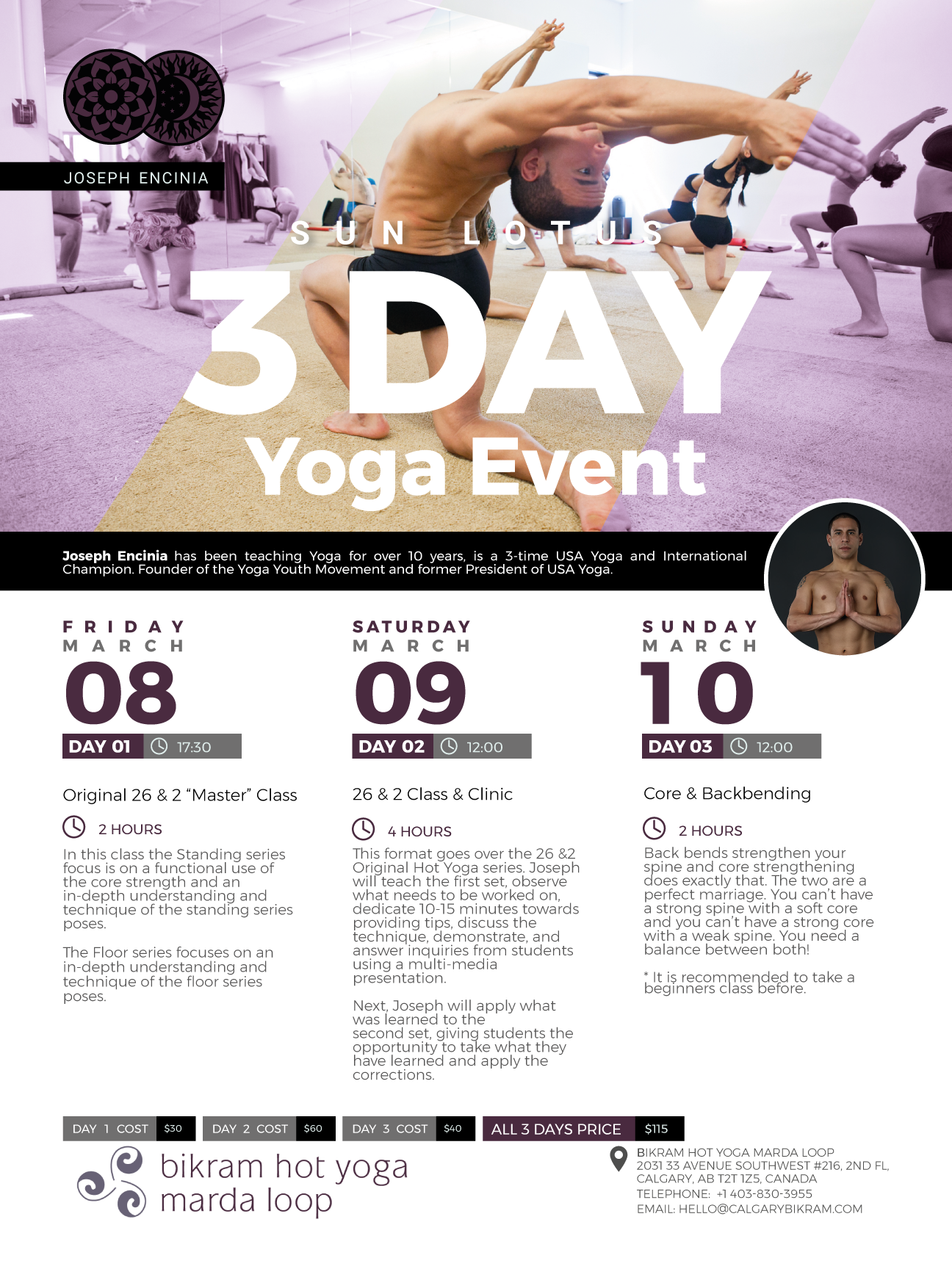 Calgary, Alberta | March 8 – 10, 2019 | 3 Day Yoga Event