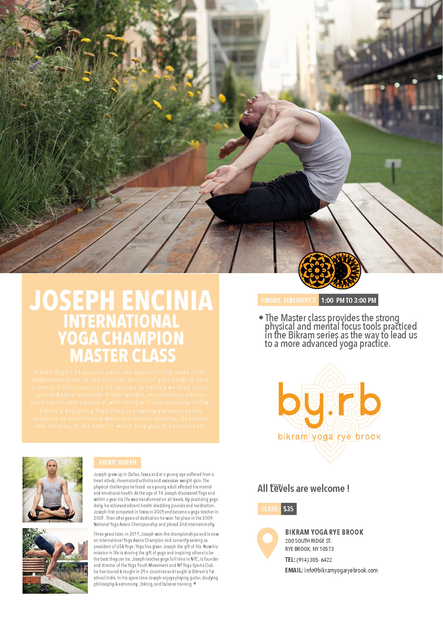 Rye Brook, New York | February 2, 2019 | Bikram Yoga Master Class