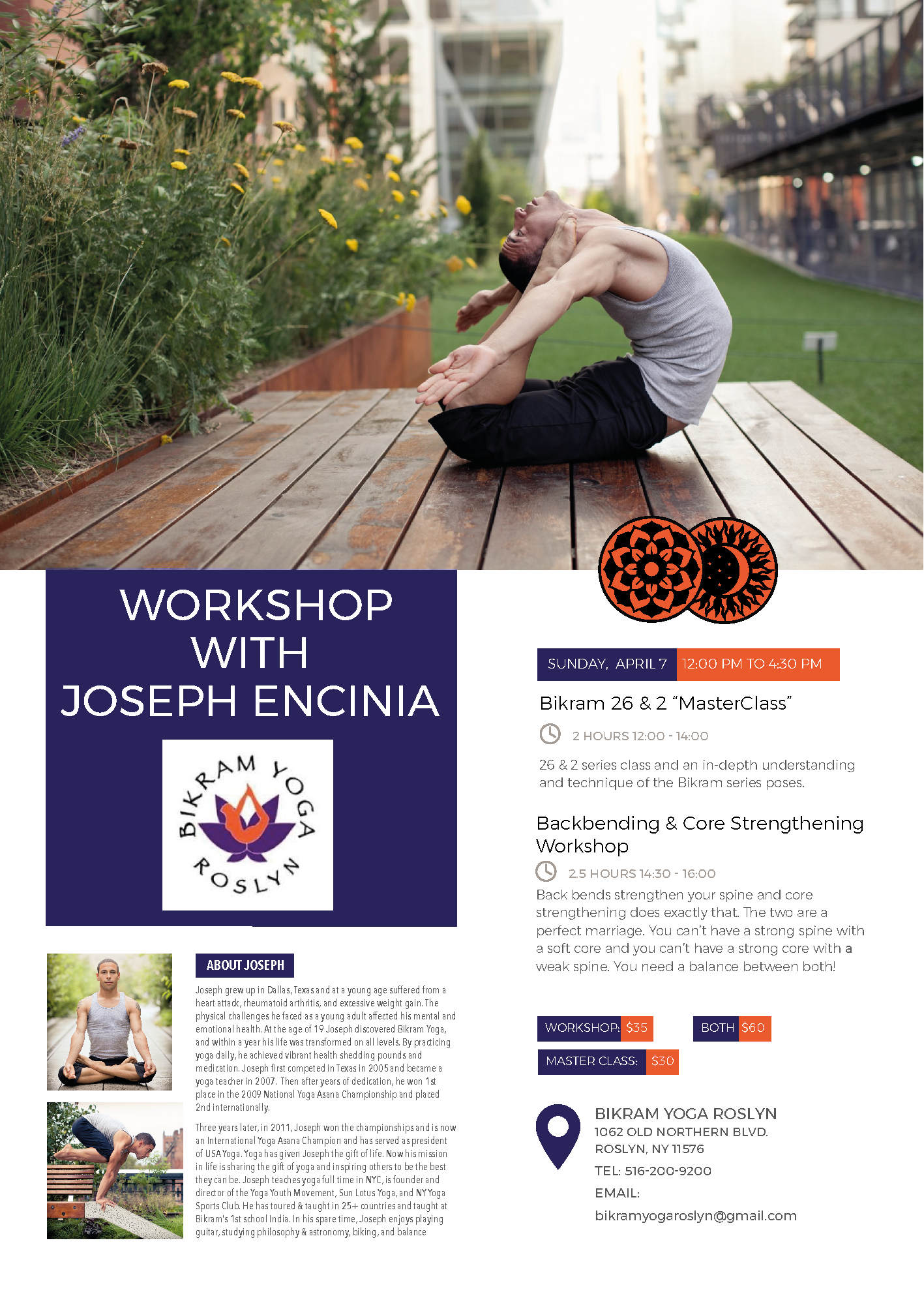 Roslyn, New York | April 7, 2019 | Back Bending and Core Strengthening Workshop