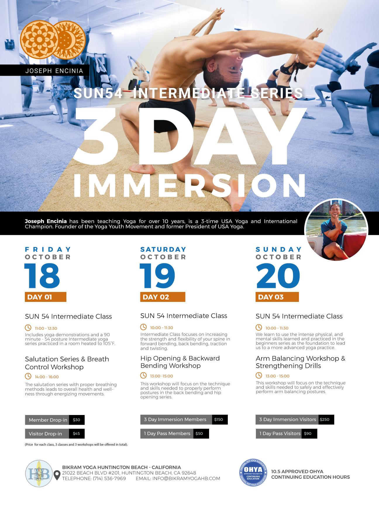 SUN54 | October 17-21, 2019 | Intermediate Asana Immersion