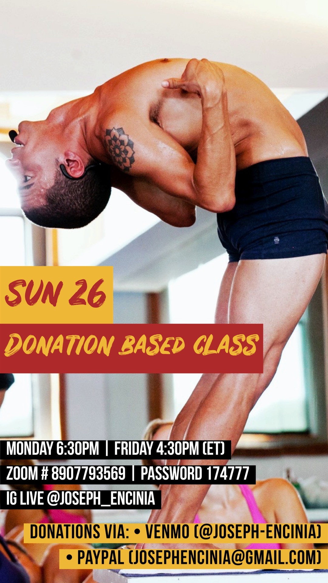 LIVE YOGA CLASSES FOR ALL